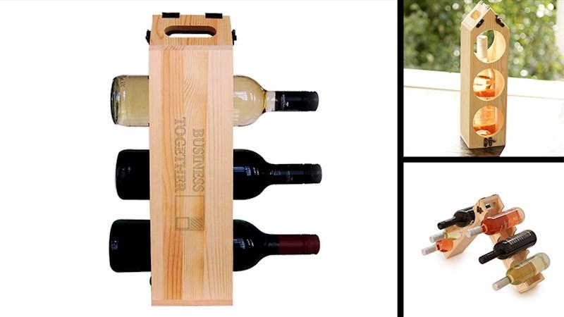 Rackpack original: een wijnkist én een wijnrek in één