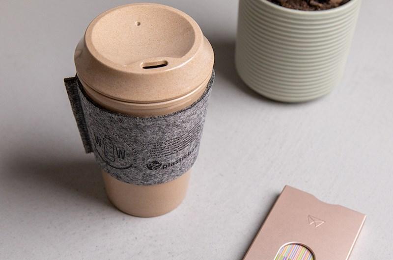 Koffie/thee beker gemaakt van rijstafval