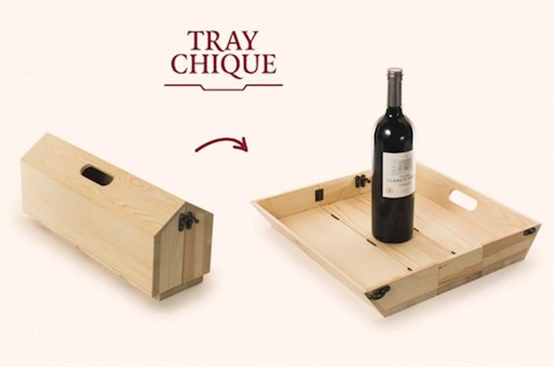 Rackpack Traychique: een wijnkist én een dienblad in één