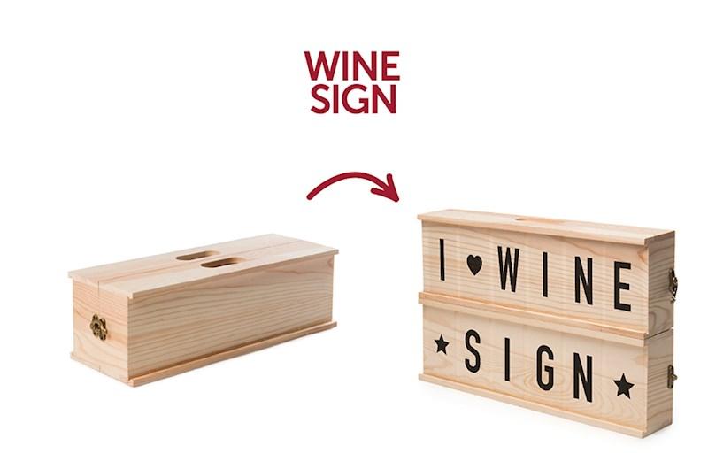 Rackpack Winesign: een wijnkist én een letterbak in één