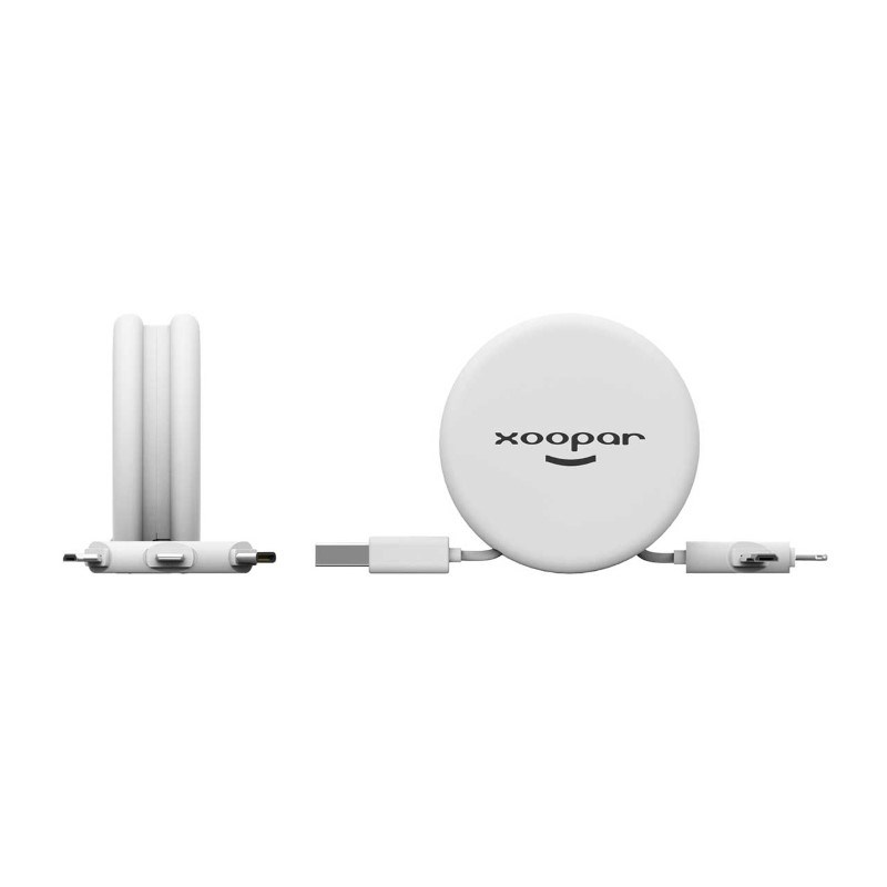 Xoopar Macaron Charging Cable - white