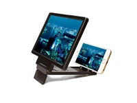 Magnifier Smart Phone Stand - white