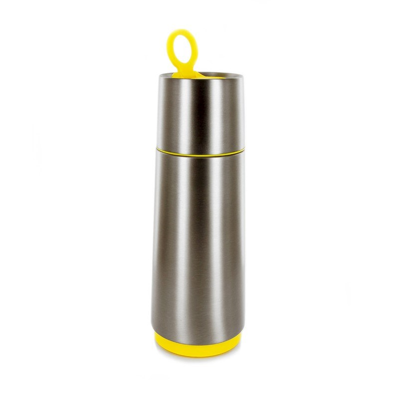 CloudCup - silver with yellow trim