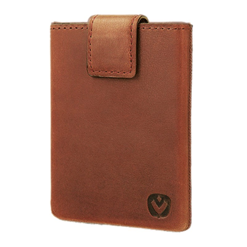 Valenta Card Case Pocket Luxe - cognac