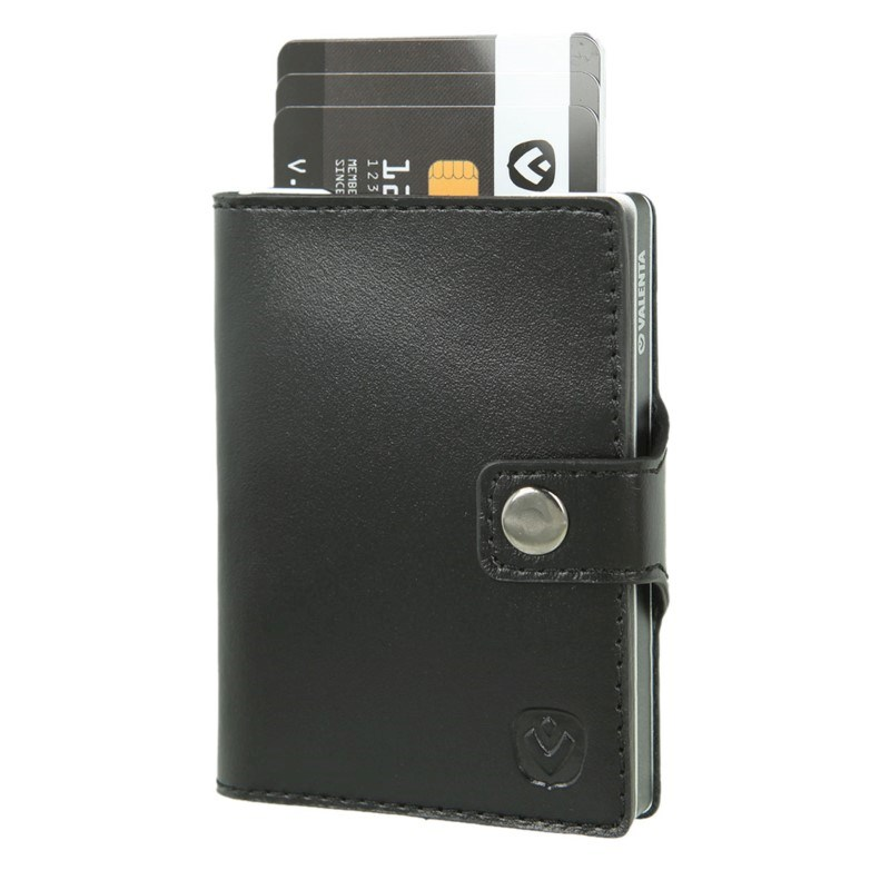Valenta Card Case Wallet Aluminium - black