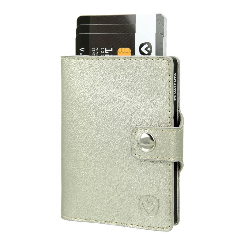 Valenta Card Case Wallet Aluminium - gold