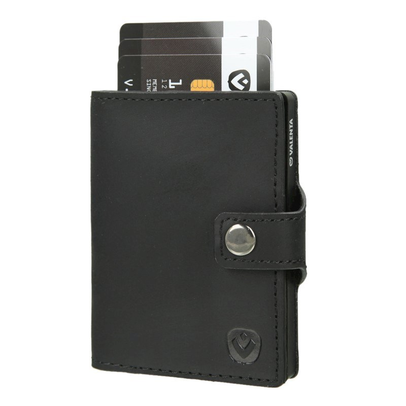 Valenta Card Case Wallet Black - vintage black