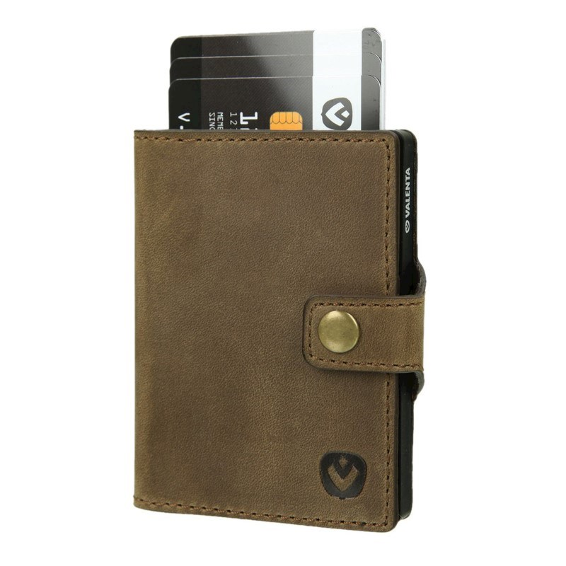 Valenta Card Case Wallet Black - vintage brown