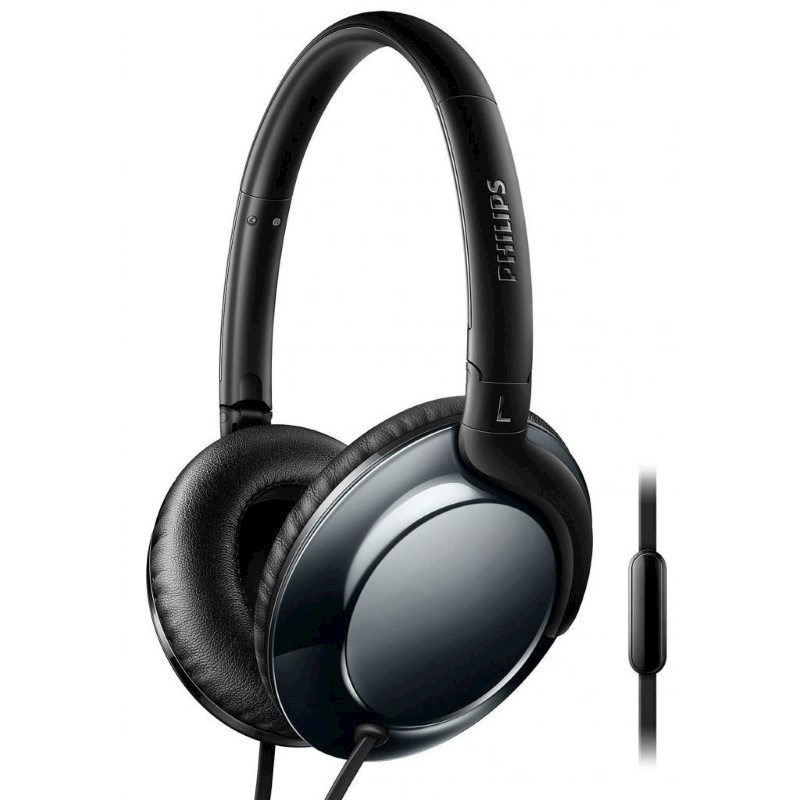 Philips Flite Everlite headphone with mic - dark chrome