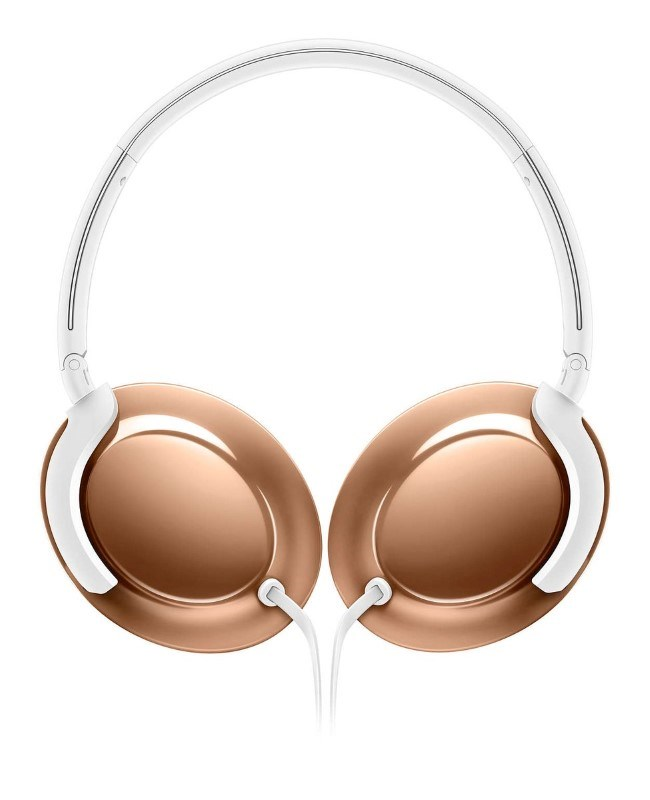 Philips Flite Everlite headphone with mic - rose gold
