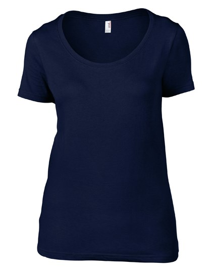 Anvil Women`s Featherweight Scoop Tee