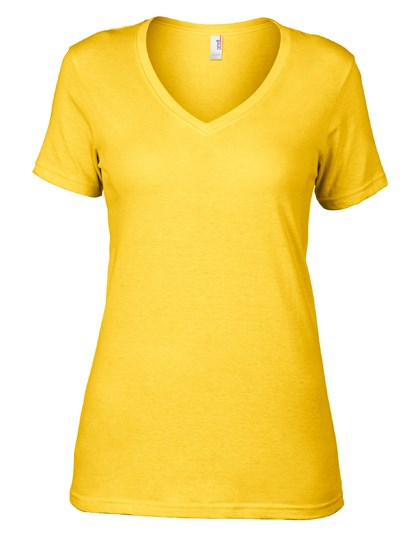 Anvil Women`s Featherweight V-Neck Tee