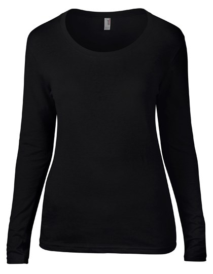 Anvil Women`s Featherweight Long Sleeve Scoop Tee