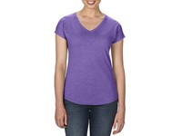 Anvil Women`s Tri-Blend V-Neck Tee