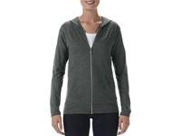 Anvil Women`s Tri-Blend Full-Zip Hooded Jacket