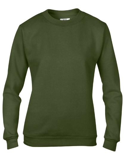 Anvil Women`s Crew Neck Sweatshirt