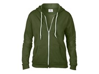 Anvil Women`s Full Zip Hooded Sweatjacket
