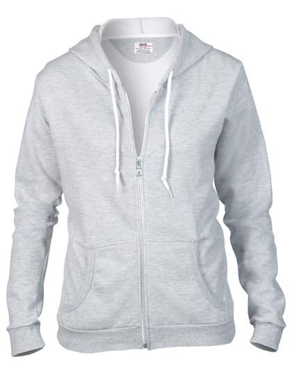 Anvil Women`s Full Zip Hooded Sweatjacket