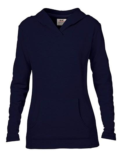 Anvil Women`s Crossneck Hooded Sweatshirt