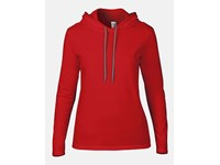 Anvil Women`s Lightweight Long Sleeve Hooded Tee