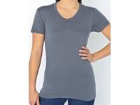 American Apparel Women`s Poly-Cotton Crew Neck T-Shirt