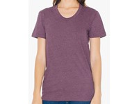 American Apparel Women`s Poly-Cotton Crew Neck T-Shirt