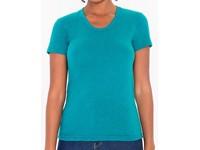 American Apparel Women`s Tri-Blend Track T-Shirt
