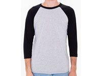 American Apparel Unisex Poly-Cotton ¾ Sleeve Raglan T-Shirt