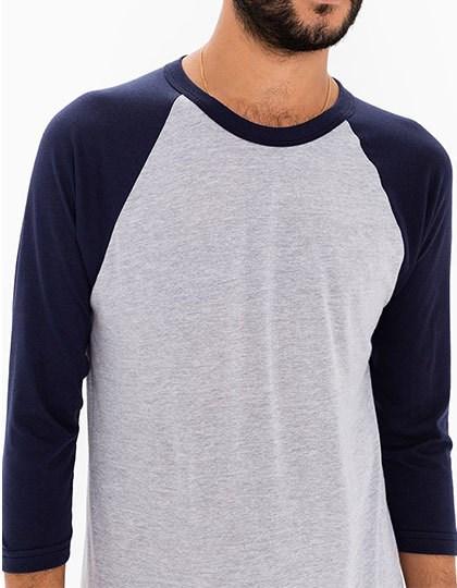 American Apparel Unisex Poly-Cotton ¾ Sleeve Raglan T-Shirt