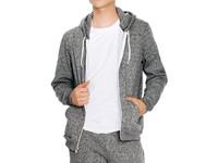 American Apparel Unisex Mock Twist Zip Hooded Sweatshirt
