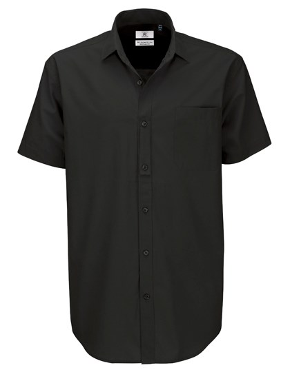 B&C Poplin Shirt Heritage Short Sleeve / Men