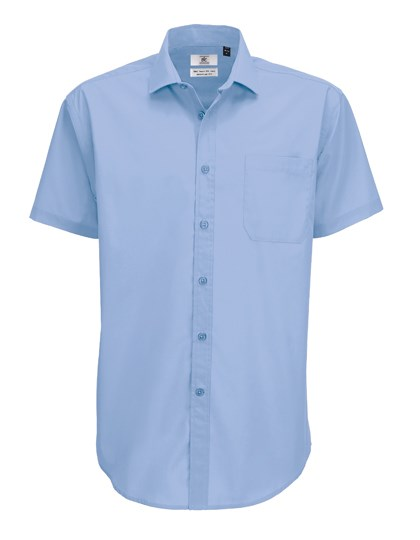 B&C Poplin Shirt Smart Short Sleeve / Men