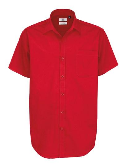 B&C Twill Shirt Sharp Short Sleeve / Men
