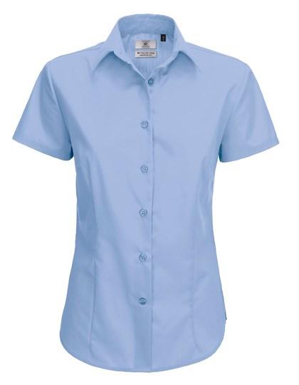 B&C Poplin Shirt Smart Short Sleeve / Women