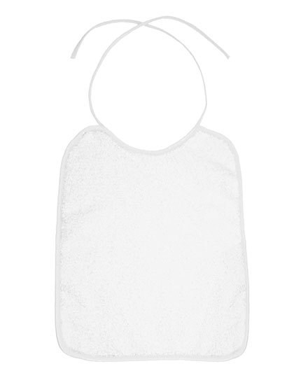 Bear Dream Piped Border Baby Bib Velour