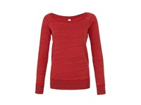 Bella Women`s Sponge Fleece Wide Neck Sweatshirt