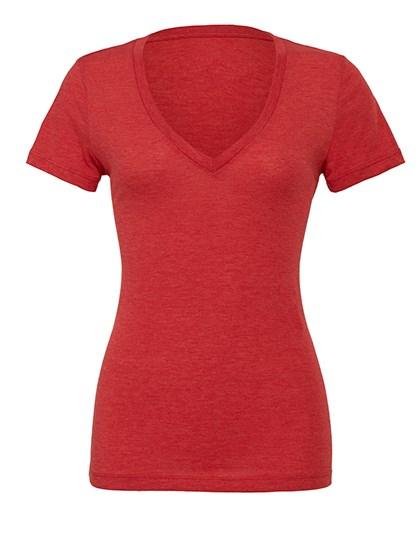 Bella Women`s Triblend Deep V-Neck T-Shirt