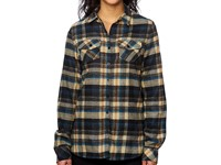 Burnside Women`s Woven Plaid Flannel Shirt