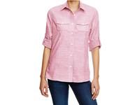 Burnside Ladies` Woven Texture Shirt