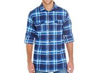 Burnside Woven Plaid Flannel Shirt