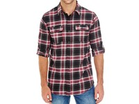 Burnside Woven Plaid Flannel Shirt