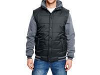 Burnside Hooded Fleece Sleeved Puffer Vest