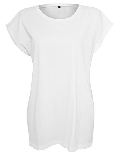 Build Your Brand Ladies` Extended Shoulder Tee