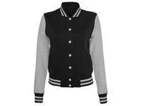Build Your Brand Ladies` Sweat College Jacket