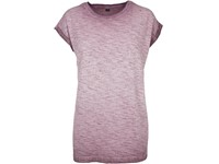 Build Your Brand Ladies` Spray Dye Extended Shoulder Tee