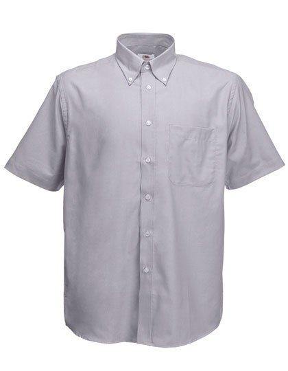 Fruit of the Loom Men`s Short Sleeve Oxford Shirt