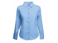 Fruit of the Loom Ladies Long Sleeve Poplin Shirt