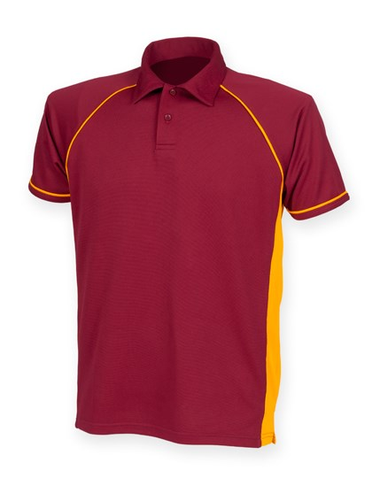 Finden+Hales Men`s Piped Performance Polo