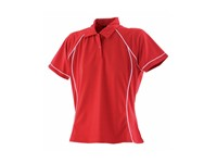 Finden+Hales Ladies` Piped Performance Polo