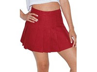 American Apparel Women`s Gabardine Tennis Skirt